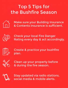 bushfire top 5 tips