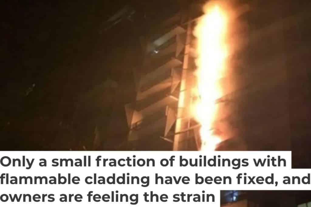 Flammable cladding issues