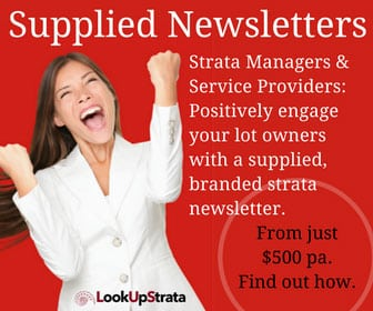 LookUpStrata Supplied Newsletters