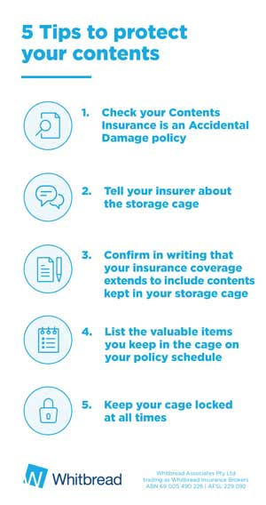 insurance for storage cages in apartments